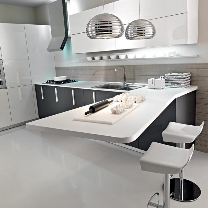 Latest Modern Kitchen Cabinet Modular PVC Kitchen CupboardWaterproof Kitchen Cabinet Designs