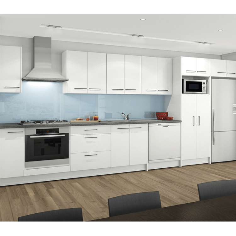 melamine rta kitchen cabinet modern solid wood Hot selling wooden kitchen cabinet