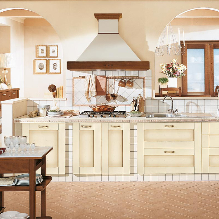 2020 new European stylewood open kitchen cabinet designs apartment projects made in China