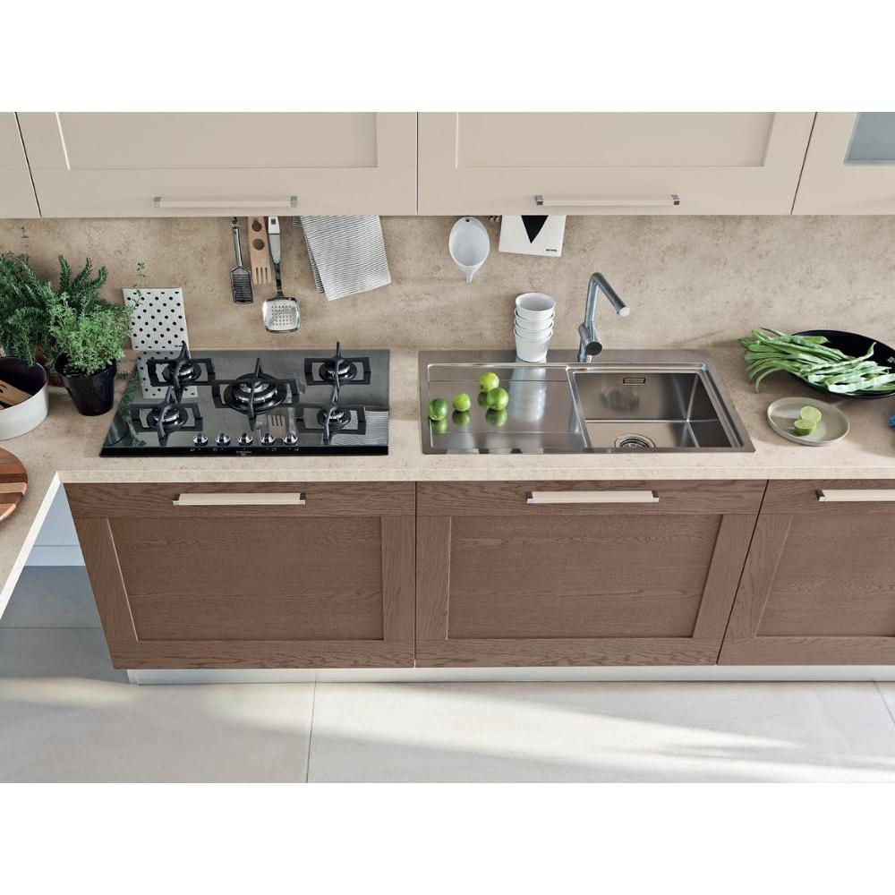 Modern laminate european style kitchen cabinet solid wood kitchen storage cabinet