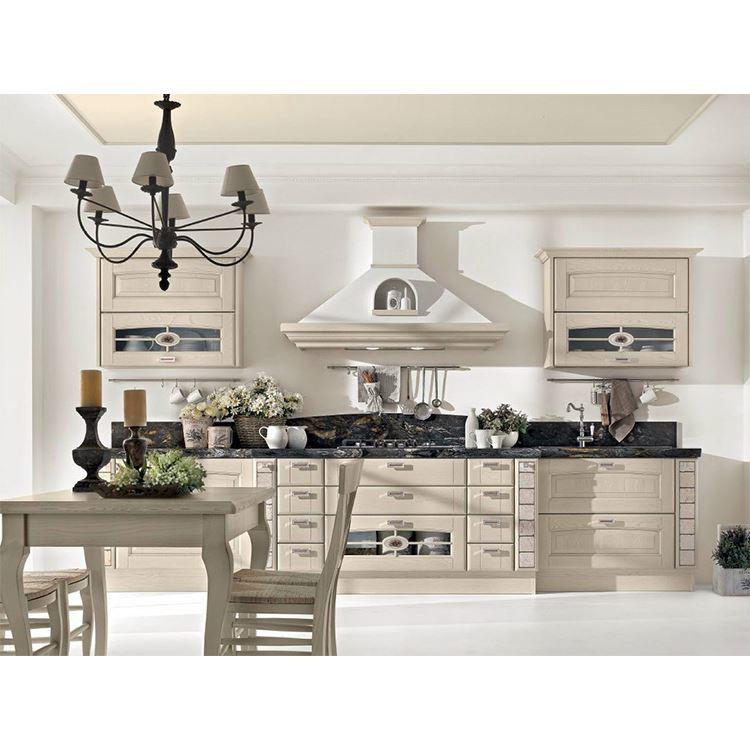 Solid Wood Kitchen Cabinets European style Kitchen furniture Manufacturer direct sale