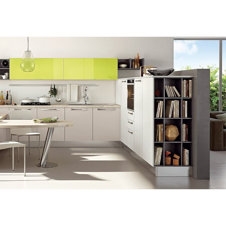 Simple Designs Wooden New High End Model Kitchen Cabinets