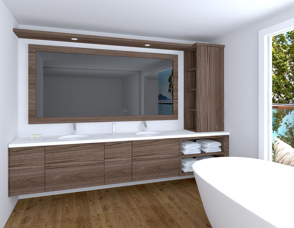 Large Space Apartment Modern Bathroom Vanity Luxury Hotel Bathroom Vanity