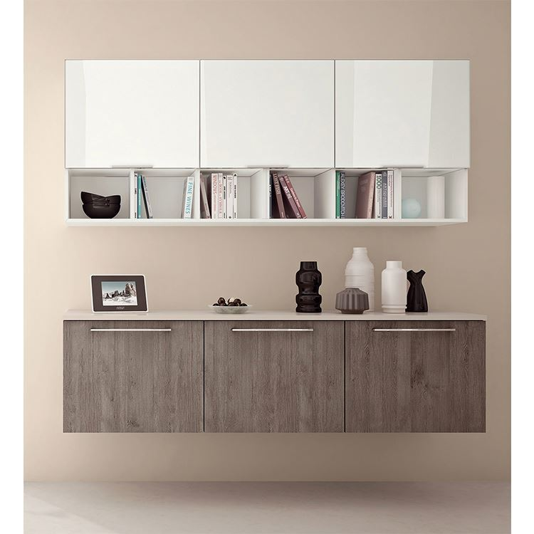 2020 new Luxury Design Grey Solid Wood Kitchen Cabinets with Island