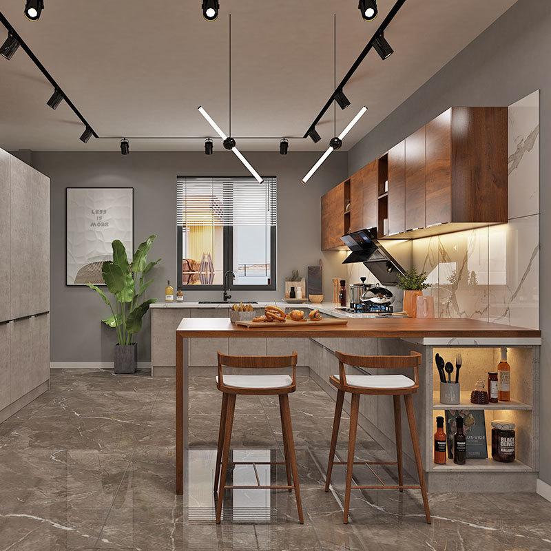 European Style Wood Kitchen Cabinet,Kitchen Microwave Cabinet