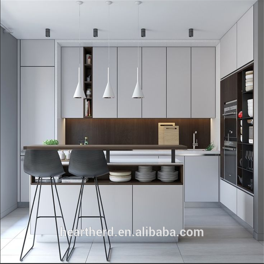 New High Quality PVC Simple Designs Kitchen Cabinet