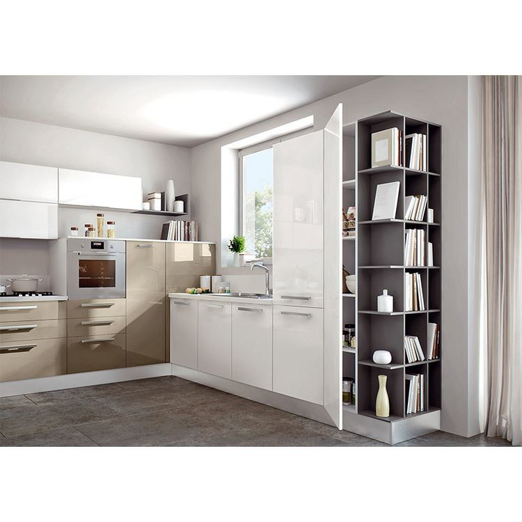 High Gloss Modern Kitchen Cabinet Pull Down,Mdf Kitchen Cabinet Building Material for Projects