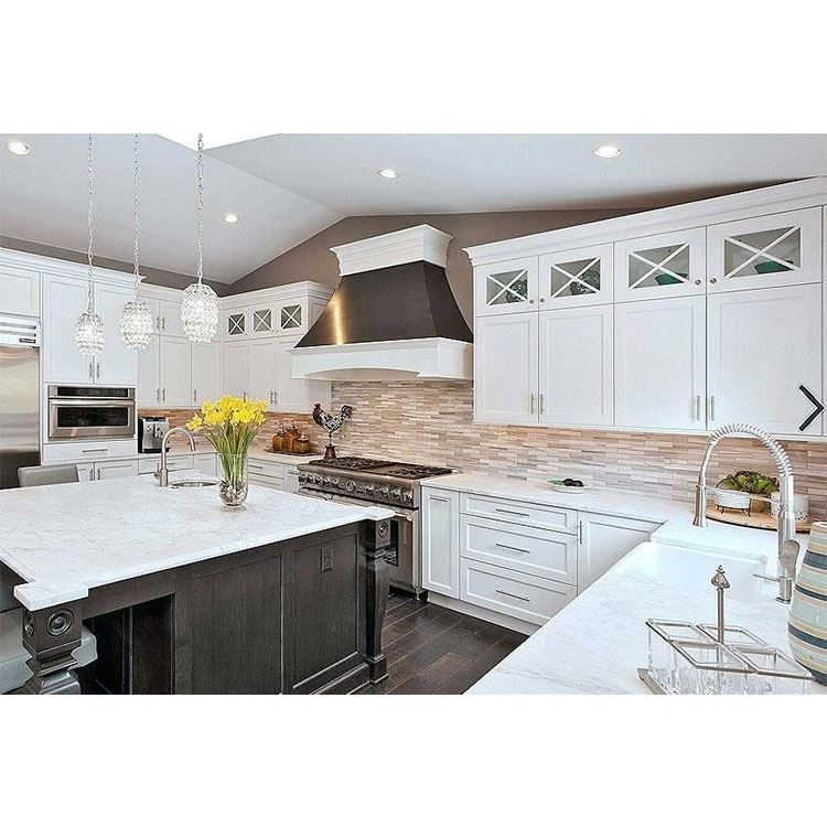 China Luxury White New Design Apartment Wooden Kitchen Cabinet Furniture