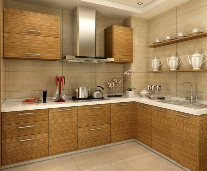 Factory Modular Kitchen Cupboards Kitchen Cabinet Manufacture Custom China PVC Membrane Office Building Lacquer Plywood Toe Kick
