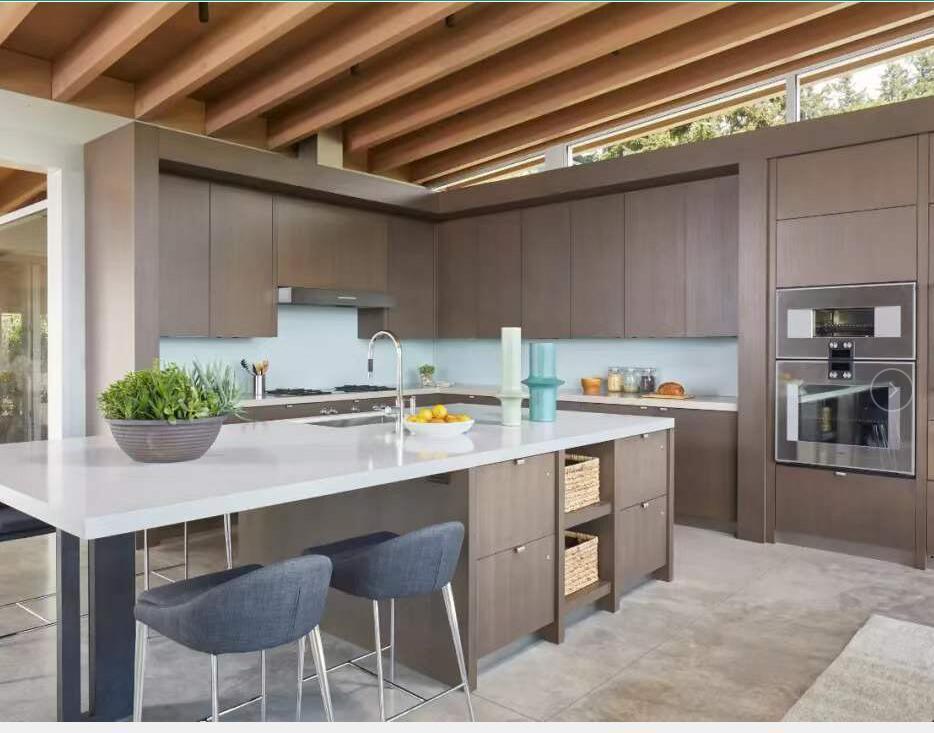 glossy pvc kitchen cabinet door price Wooden Kitchen Furniture Cabinet Designs