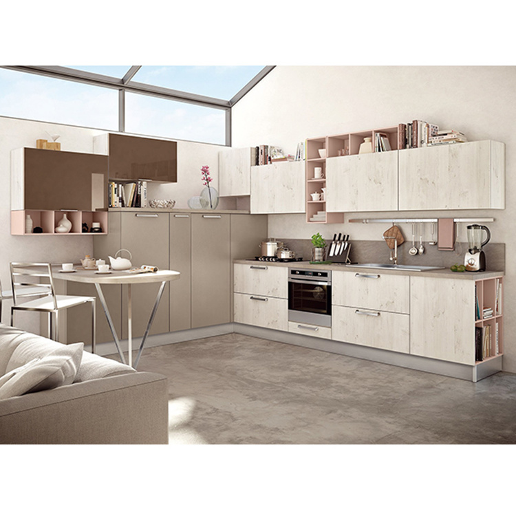 China Made High End New Model Design Kitchen Cabinets Factory Supplier