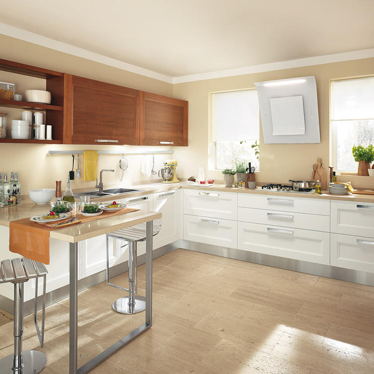 Professional Designs Custom made Kitchen Cabinets Solid Wood Kitchen CabinetManufacturer Direct Sale