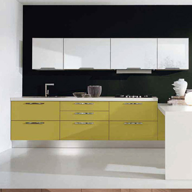 2021 new modern stylewood open kitchen cabinet designs projects made in China