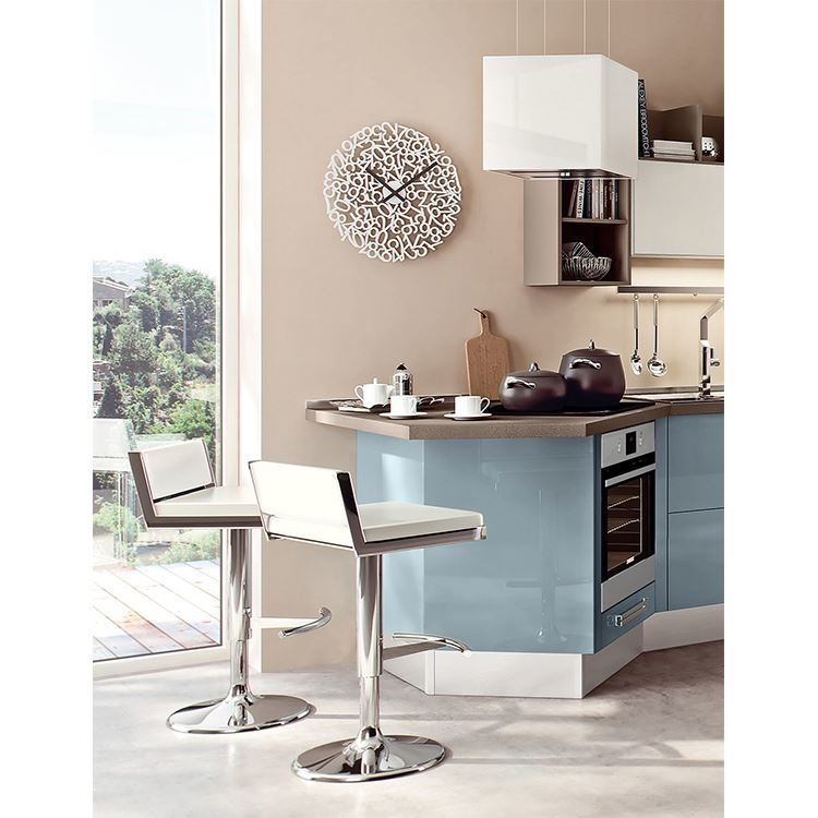 High Gloss Wooden Modern Simple Designs Kitchen Cabinets For Villas