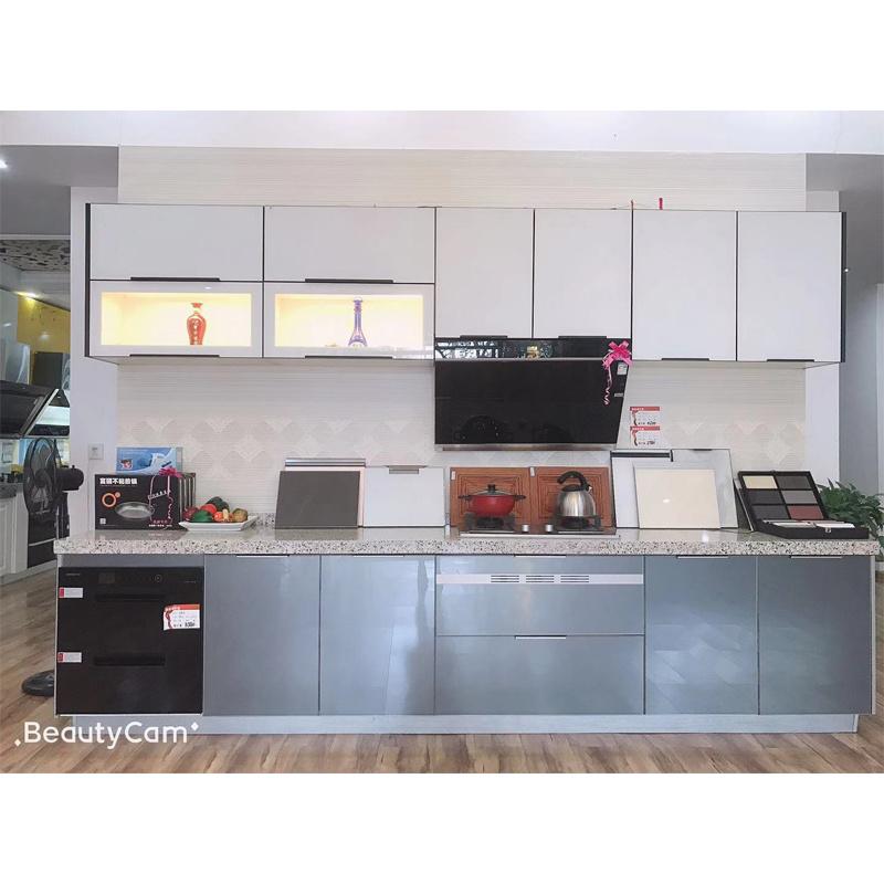 Source factory custom cabinetcustom furniture modern simple European style kitchen cabinet