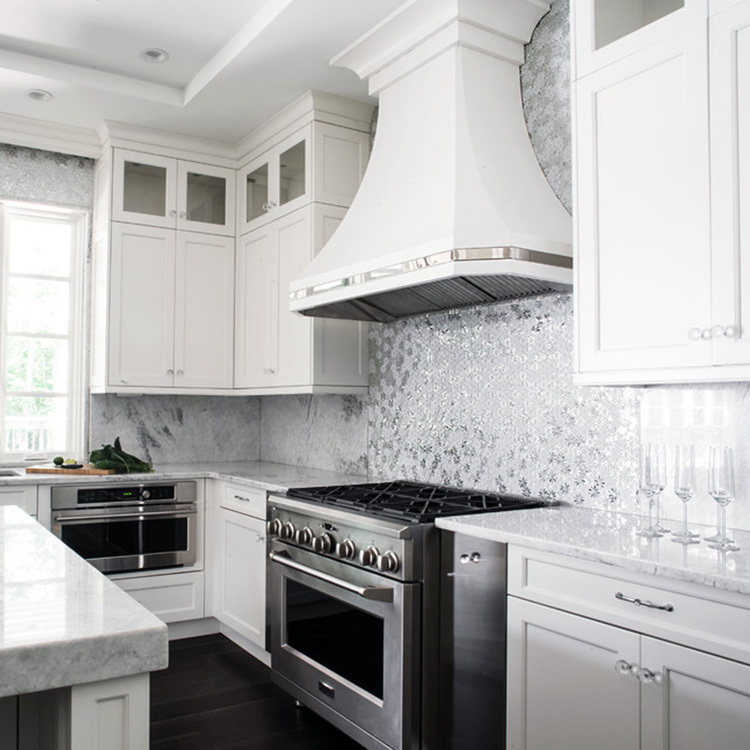 hite Solid Wood Kitchen Cabinets