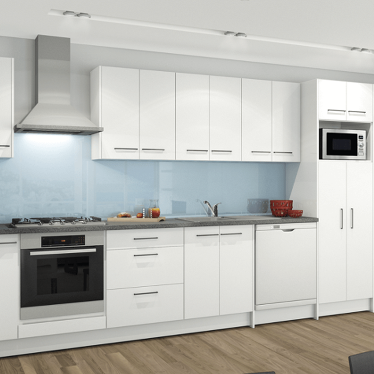 Hot selling white shaker wood kitchen cabinet designs solid wooden cupboard