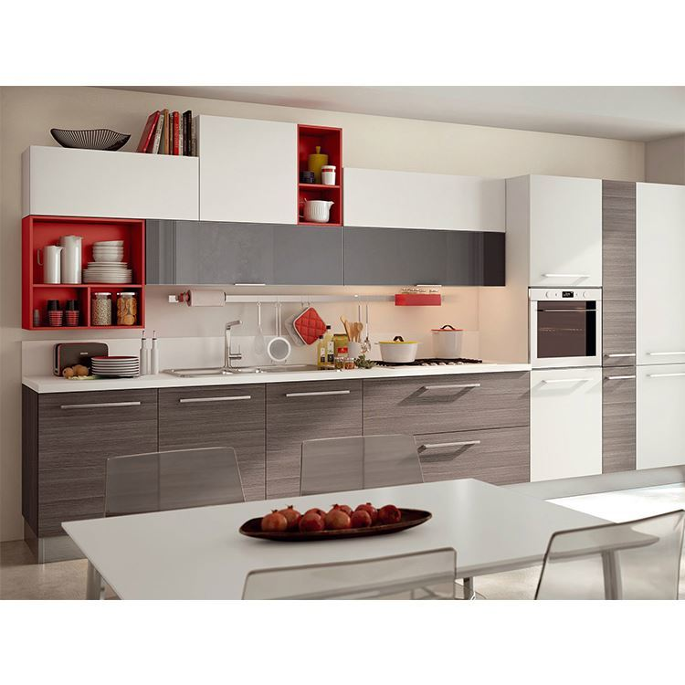 Design Wall Hang Solid Wood Kitchen Cabinet Modern Kitchen Furniture Factory Custom made