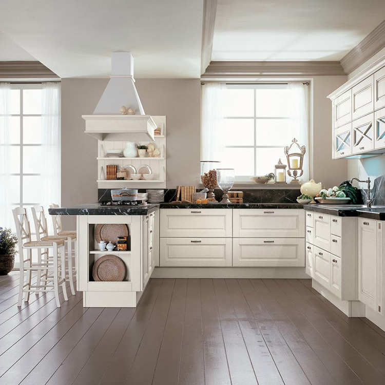2020 European stylewood open kitchen cabinet designs apartment projects made in China