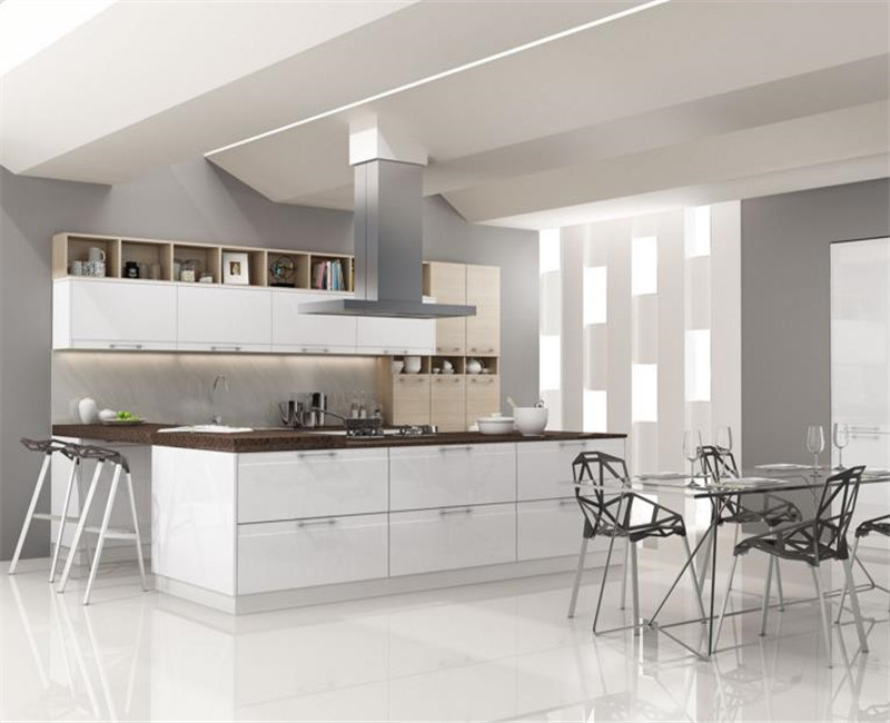 L Shaped Modular Thermofoil Kitchen Cabinets Simple Designs Images For Small Kitchen