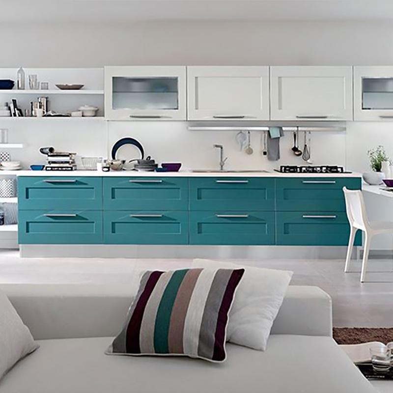 Blue Kitchen Cabinet Designs Modern Lacquer Design Small Pvc Kitchen Cabinet Door Price