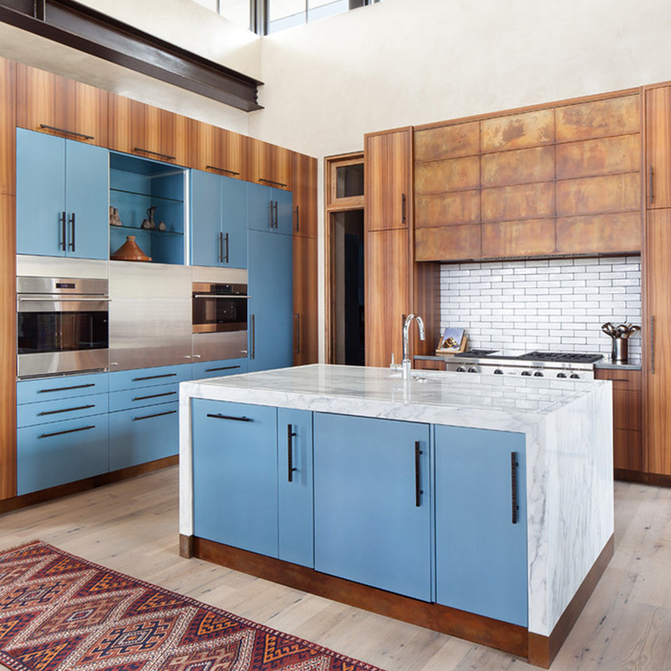 2021 New Moden Design Solid Wooden Open Kitchen Cabinets