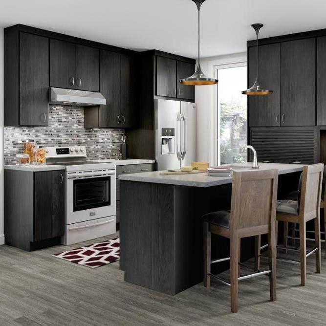 Modern rta melemine fitted kitchen cabinets solid wood Kitchen storage cabinet