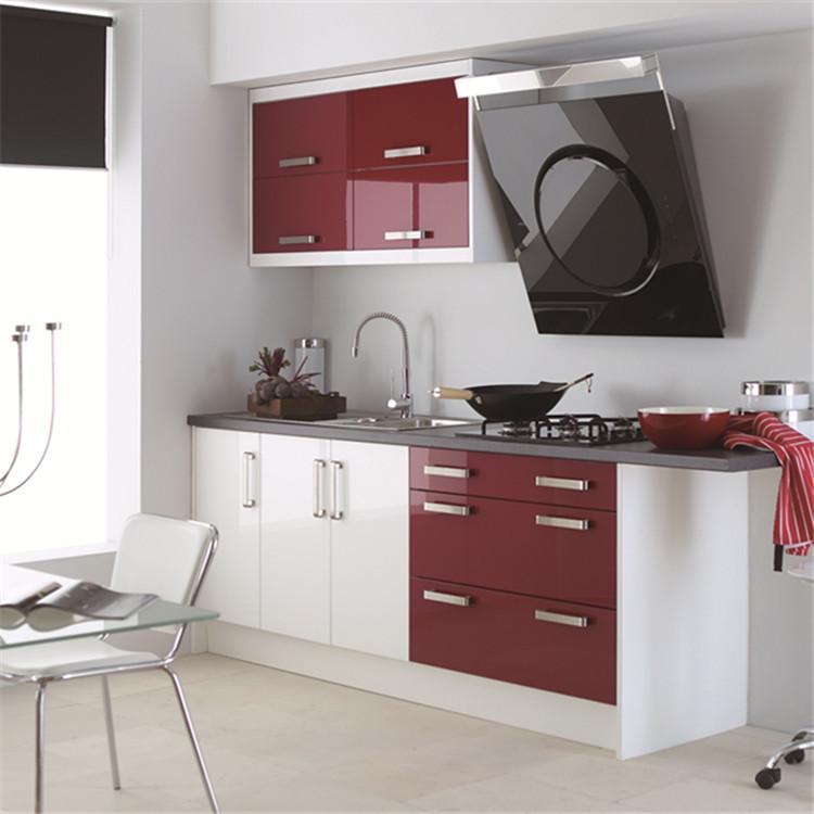 European style white modern melamine kitchen cupboard made in china