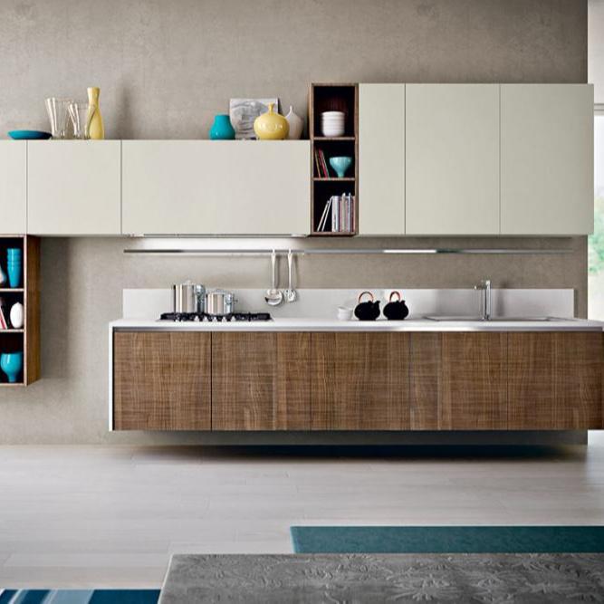 Modern Readymade Kitchen Furniture PVC Designs Hign Gloss Cabinet