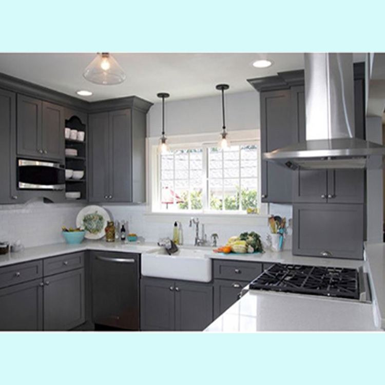 Solid Wood Professional Solid WoodDesign Whole Kitchen Set Cabinet Pantry