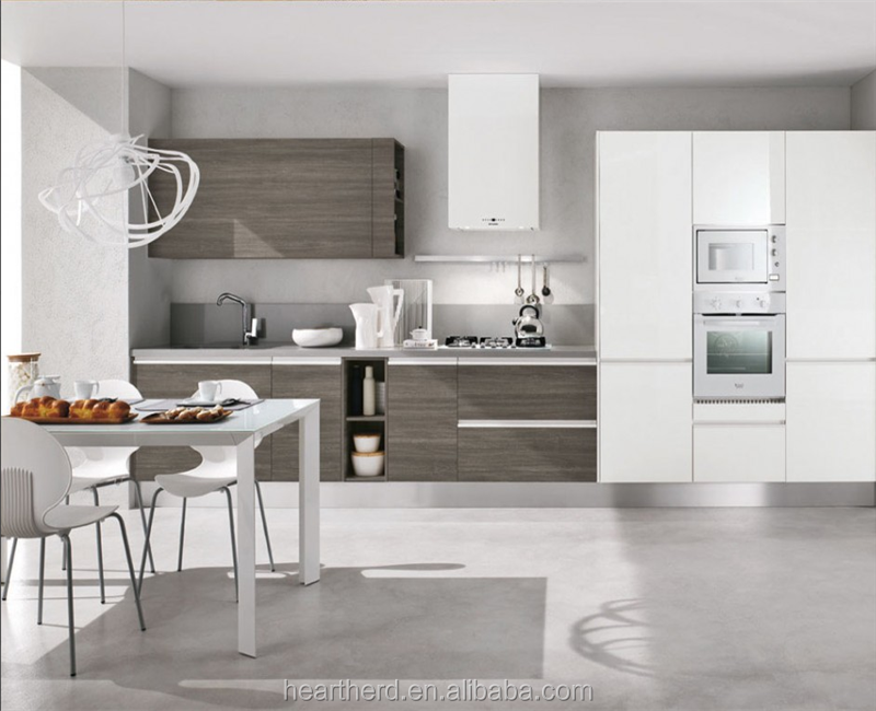 High Gloss Mdf Kitchen Cabinets For Small Kitchen