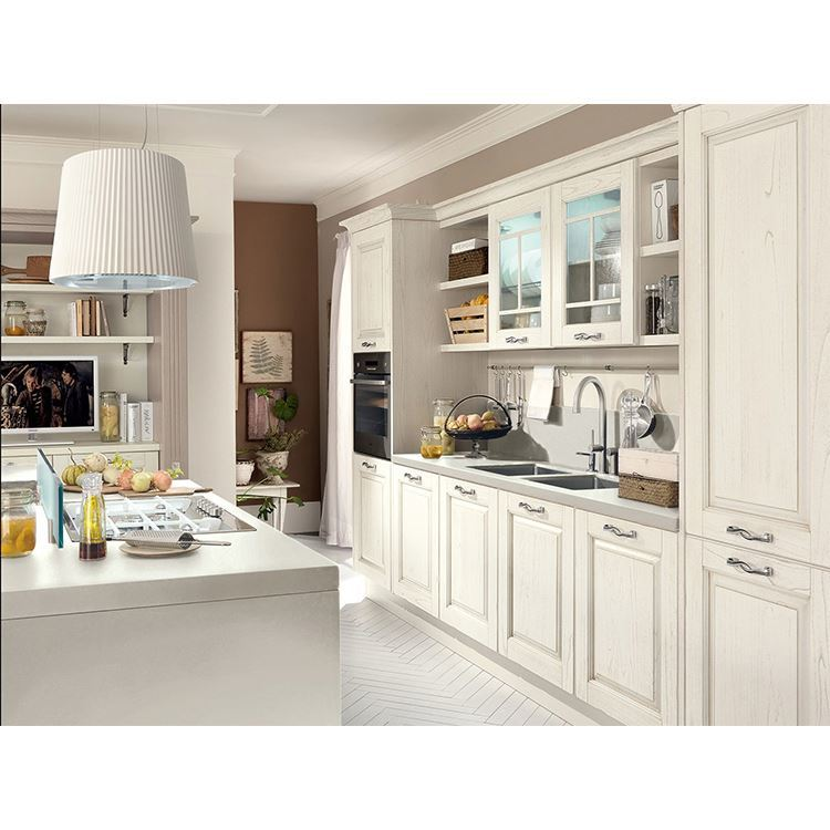 All-in-one Solid Wood European Pantry Kitchen Cabinets Set Wholesale office kitchen In China