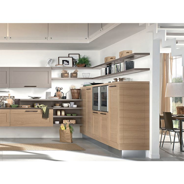Made In China Home Modern Design Solid Wooden Kitchen Cabinet For Sale