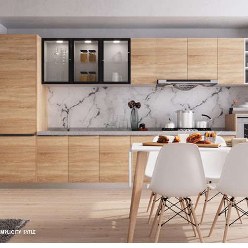 High Gloss PVC Thermofoil Kitchen Cabinets From China Factory