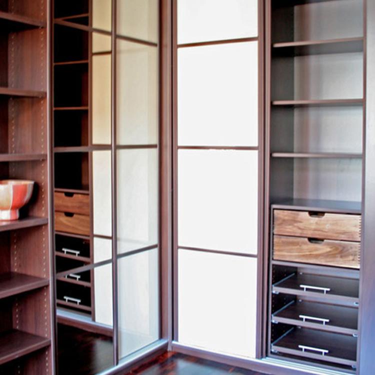 Modern MFC wooden luxury design bedroom furniture baby drawer wardrobe
