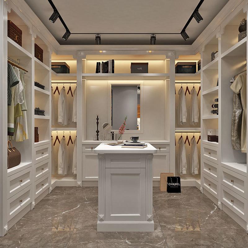 Solid Wood Painted Custom Made Wardrobe Closet