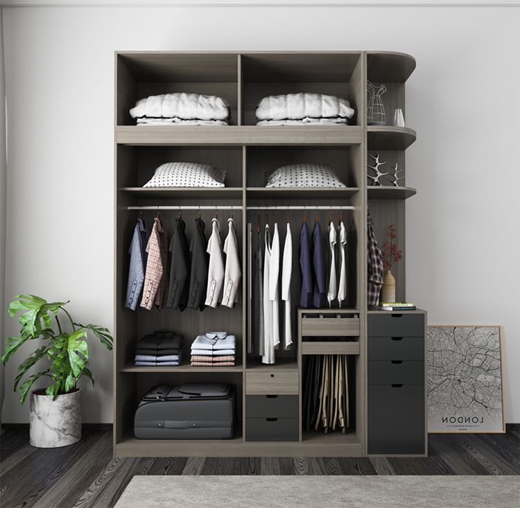 High grade particle board with melamine wardrobe bedroom furniture