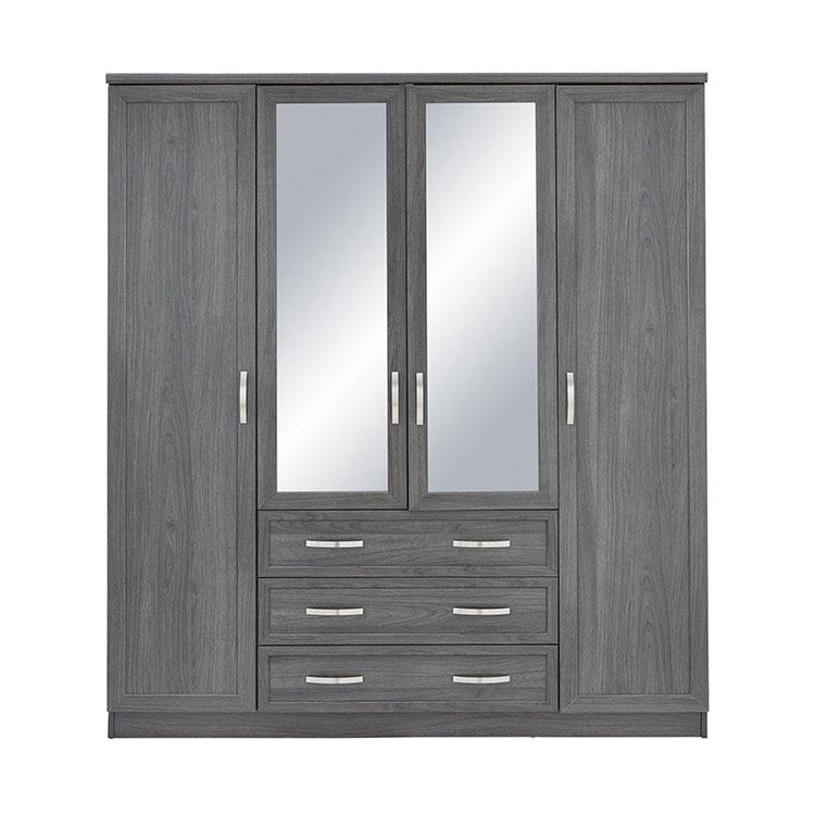 custom made wooden wardrobe organiser closet with mirror