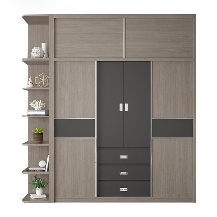 modern bedroom wall wooden wardrobe design for the bedroom