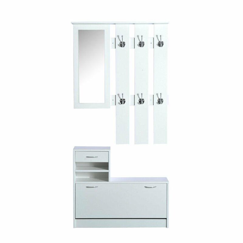 Cheap price retail wooden retail shoe rack display with mirror cabinet