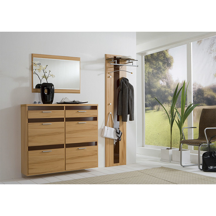 Classical professional supplier pull-out shoe rack with hanging clothes rack