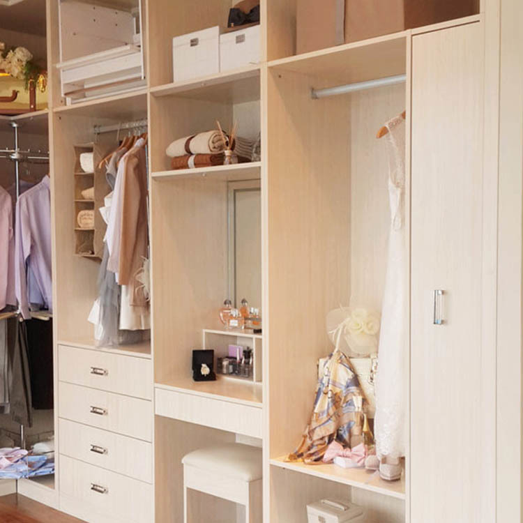 American style wooden cheap cabinet closet custom bedroom wardrobes