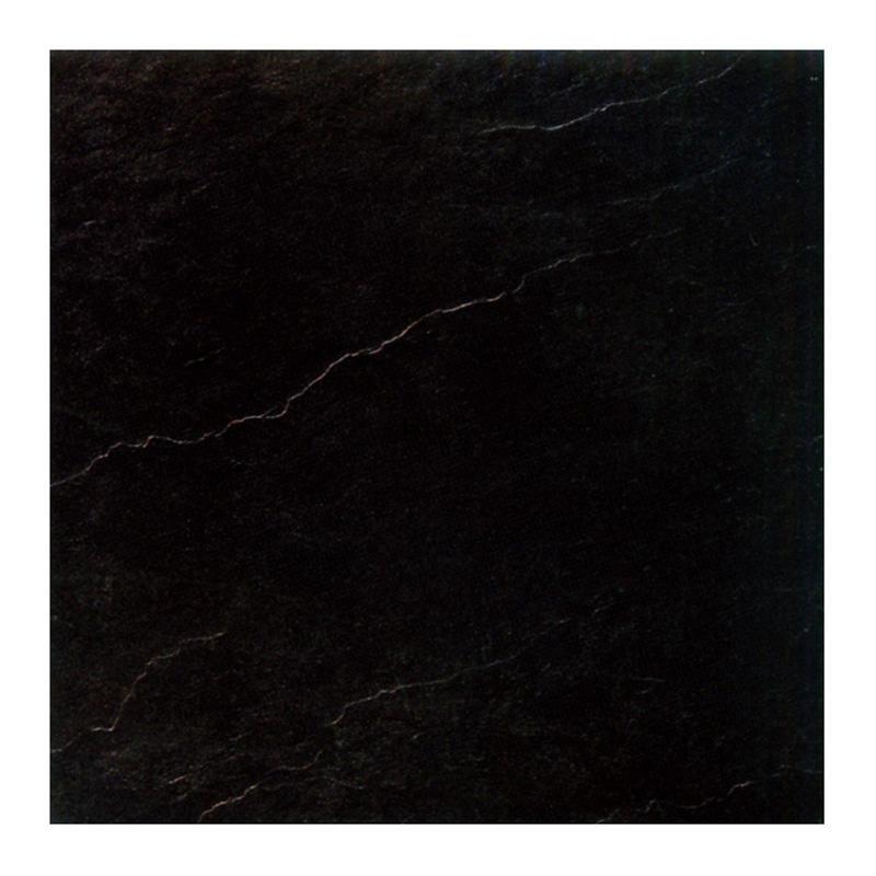 Gloss black ceramic floor tile