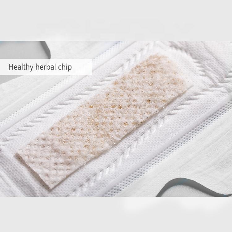Premium medical napkins herbal organic pads individually wrapped sanitary napkin