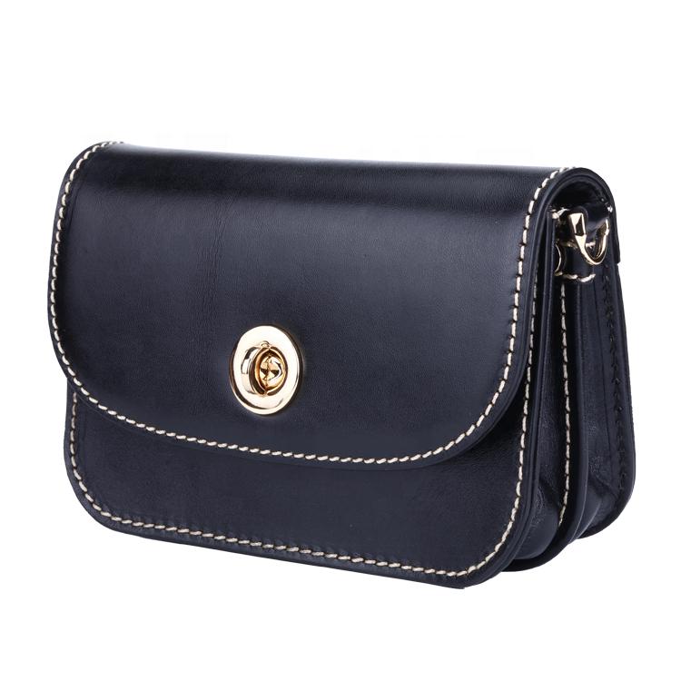 High quality leather handbags women removable flap designer hand bag for women