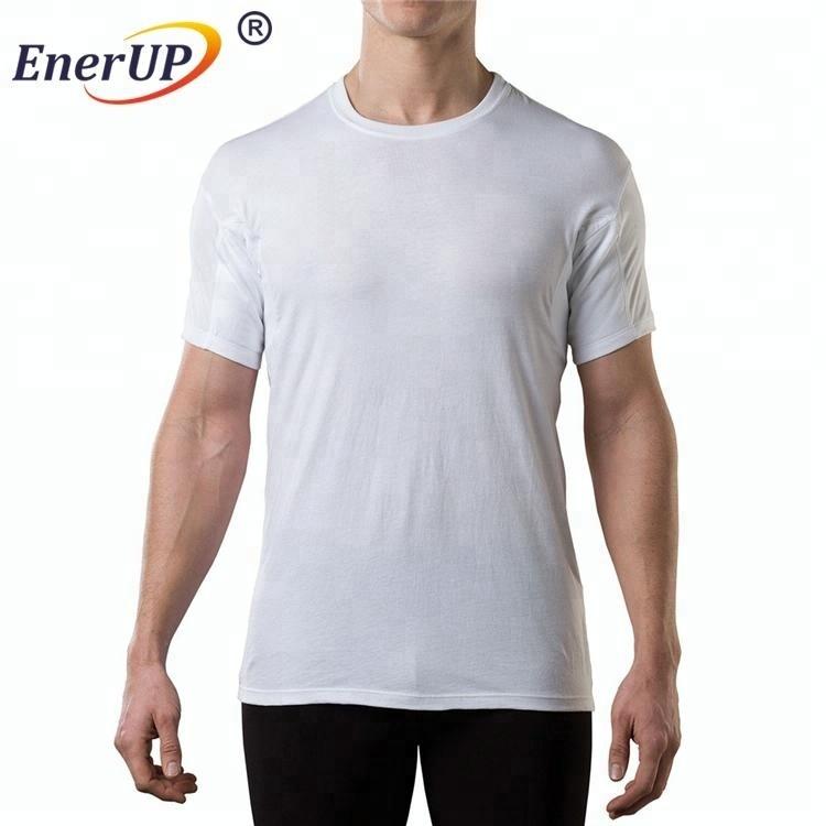 Free sample Men clothing Anti sweat underarm padded shirts