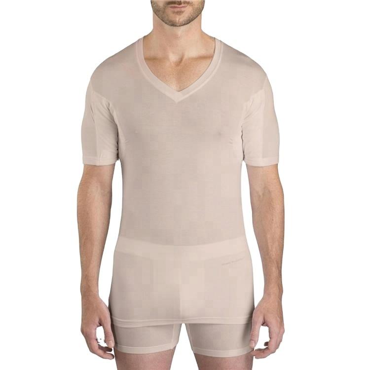 China Custom hot selling sweat proof underwear t-shirt for men