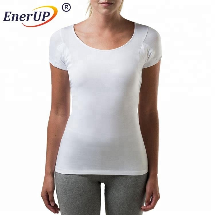 Women's V-neck sweat proof t-shirt underarm shields