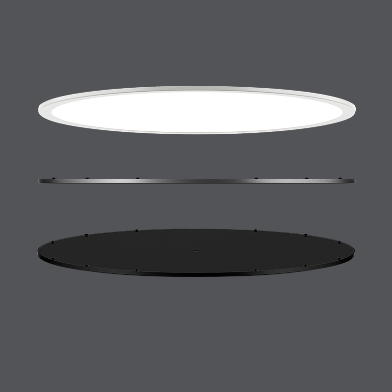 2020 High Quality Moderate Pride Energy-efficient Ra90 Suspend Round LED Panel Light for the Mall made by the factory in China