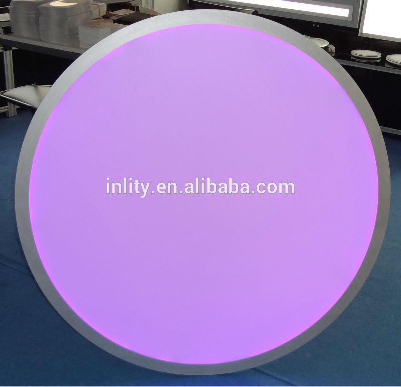 multi color led recessed ceiling light large diameter 1200mm round panel